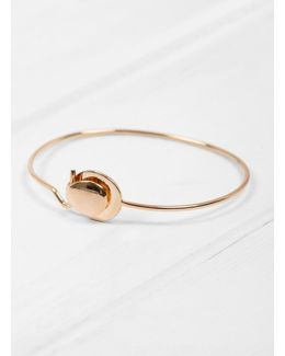 Folded Clasp On Wire Bangle