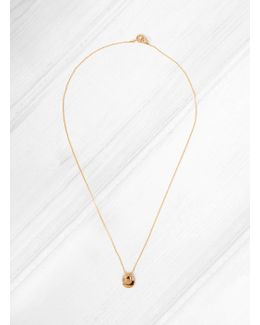 Folded Gold Plated Brass Necklace