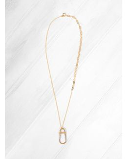 Gold Plated Brass Link Necklace