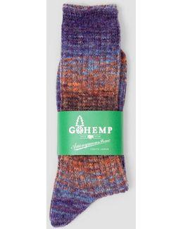 Hemp Splash Pattern Socks