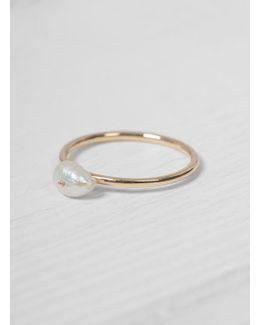 Irregular Pearl Ring