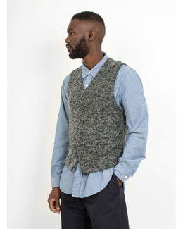 Knit Vest Boucle