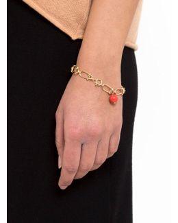 Link Bracelet With Stone Bead
