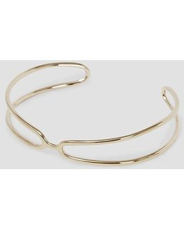 Open Goldplated Wire Bangle