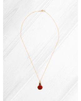 Oval Carnelian Necklace