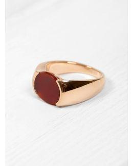 Oval Cornelian Signet Ring
