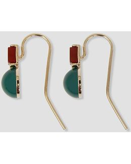 Round & Square Stone Earrings