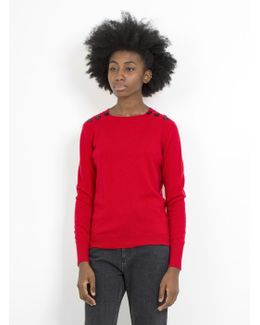 Shoulder Buttons Jumper