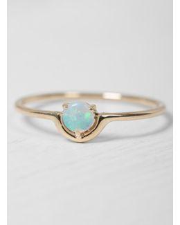 Single Nestled Opal Ring