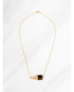 Tigers Eye Square Necklace