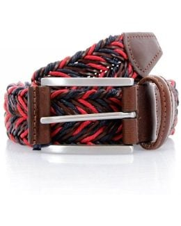 Anderson's Braided Twine Deep Navy Red Belt