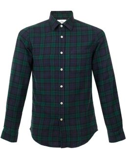 Bonfim Green Check Flannel Shirt 2015106
