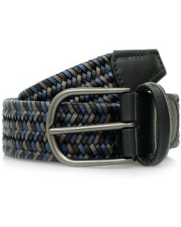 Woven Braided Leather Belt