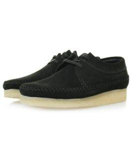 Weaver Black Suede Shoes 16050