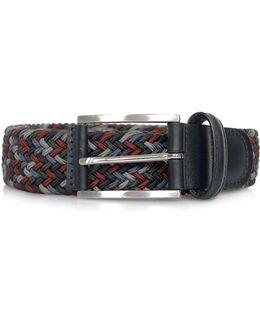 Anderson Woven Braided Dark Multi Belt Af3689