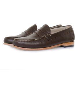 Larson Palm Springs Dark Brown Loafer Shoe