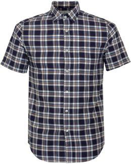 Budo Navy Check Shirt