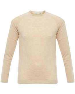 Dyed Knitted Pullover Pale Powder