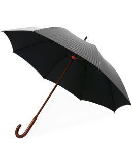 Classic Dogtooth Black Umbrella