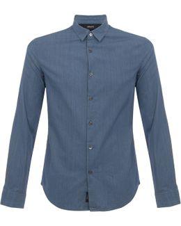 Pin Striped Denim Shirt