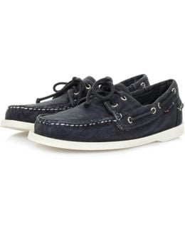 Docksides Navy Canvas Shoe B720312