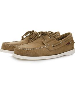 Docksides Dark Taupe Canvas Shoe B720312