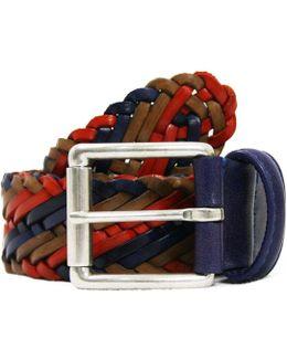 Andersons Multicolour Red Leather Belt Af2984