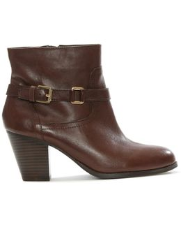 Maeve Brown Leather Ankle Boot