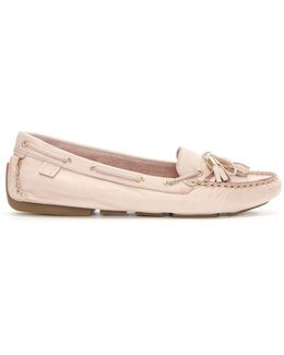 Alivia Pink Leather Moccasin