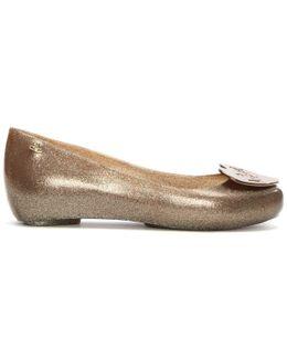X Melissa Ultragirl Love Bronze Ballerina Flats