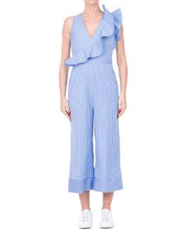 Striped Cotton Jumpsuit