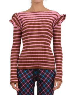 Wool-blend Striped Sweater