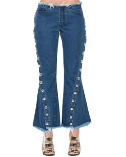 Flared Frayed Jeans