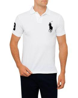Short Sleeve Custom Fit Mesh Big Pony Polo
