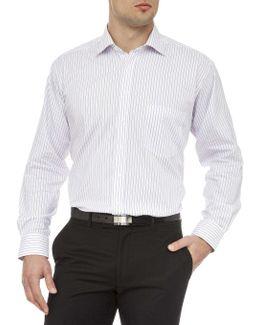 Stretch Collar Donald Stripe Shirt