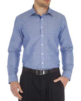 Kobe Linen Stripe Super Slim Fit Shirt