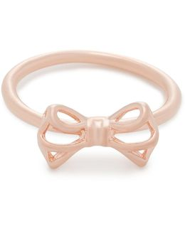 Ginniee: Tiny Geometric Bow Ring Ml