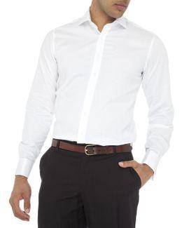 Madison Semi Solid Double Cuff Slim Fit Shirt