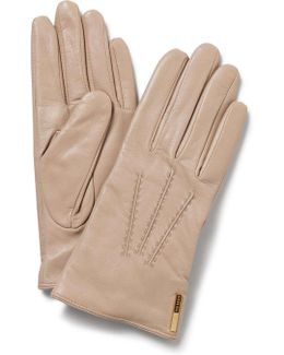 Texture Bar Detail Lthr Gloves