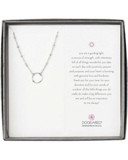 Beaded Chain With Karma Circle Boxed Reminder Necklace