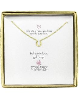 Mini Horseshoe Little Bits Of Happy Boxed Reminder Necklace