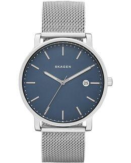 Hagen Silver Stainless Steel Mesh Watch