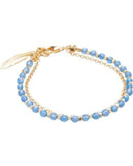 Blue Agate Feather Biography Bracelet