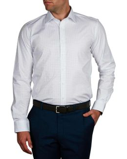 Oyster Bar Print Stretch Body Fit Shirt