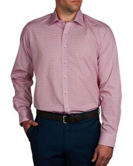 Escher Print Slim Fit Shirt