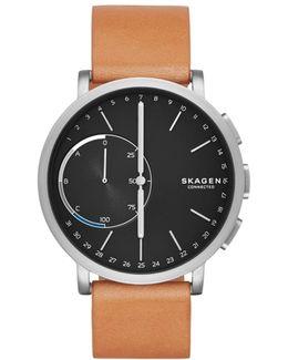Hagen Brown Leather Hybrid Smartwatch