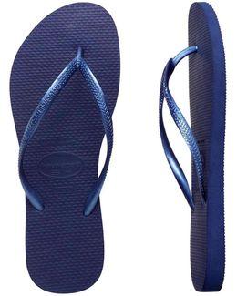 Slim Metallic Navy Blue