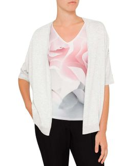 Kembly Pearly Petal Print Wrap Top