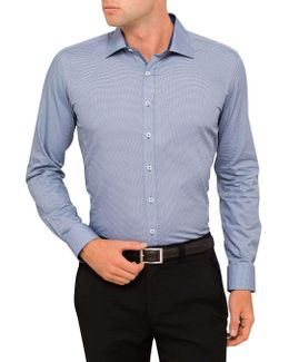 College Point Print Body Fit Shirt