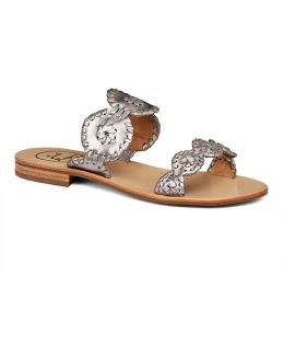 Lauren Metallic Slide Sandals